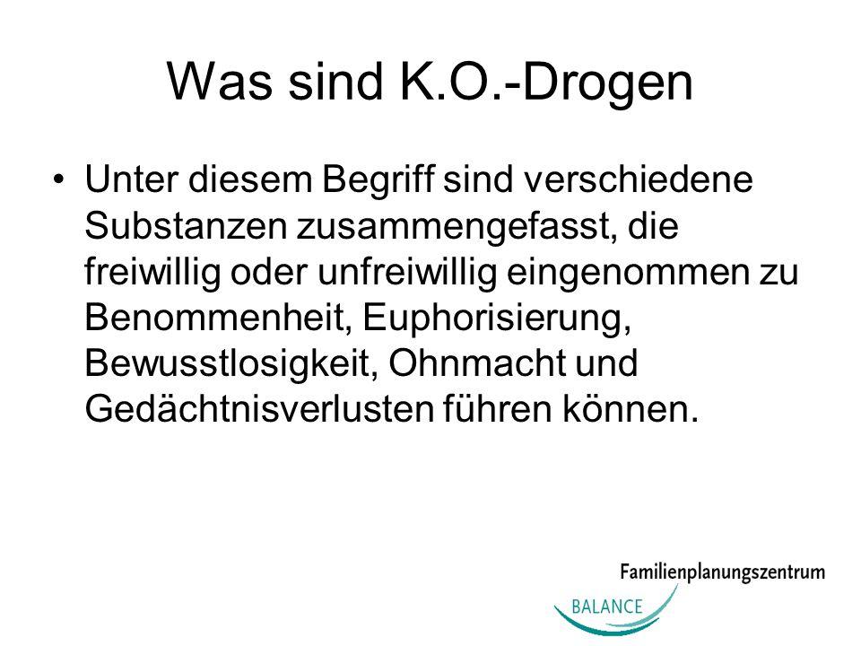 Was sind K.O.-Drogen
