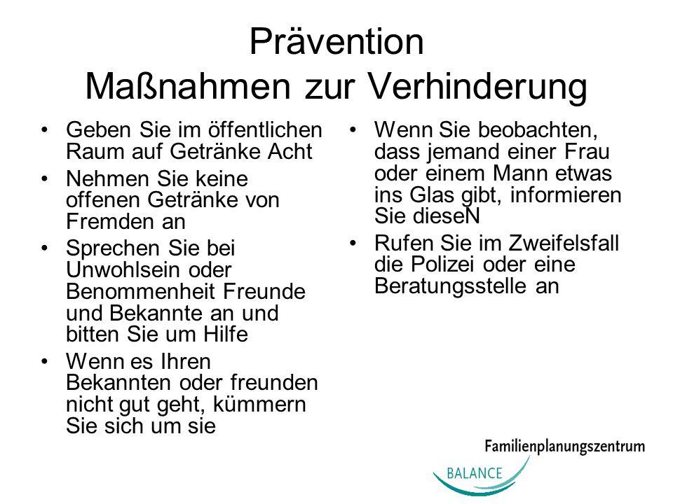 Prävention Maßnahmen zur Verhinderung