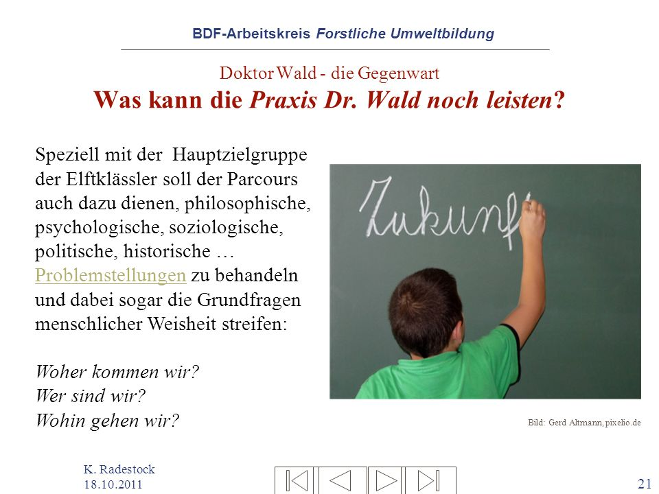 Doktor Wald - die Gegenwart Was kann die Praxis Dr. Wald noch leisten