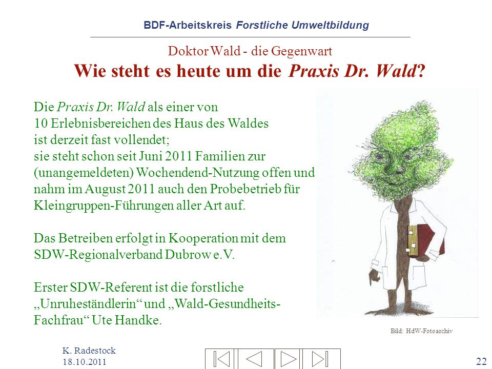 Doktor Wald - die Gegenwart Wie steht es heute um die Praxis Dr. Wald