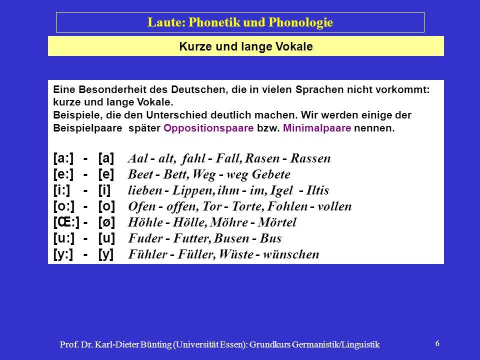 Laute: Phonetik und Phonologie
