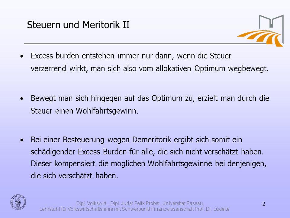 Steuern und Meritorik II