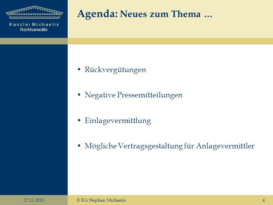 Agenda: Neues zum Thema …