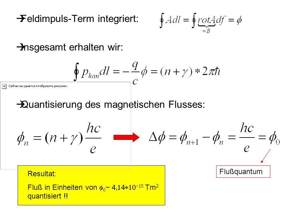 Feldimpuls-Term integriert: Insgesamt erhalten wir: