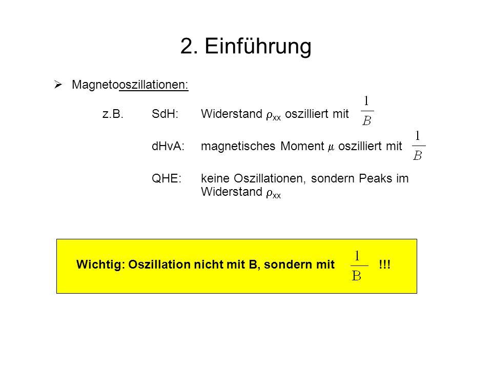 2. Einführung Magnetooszillationen: