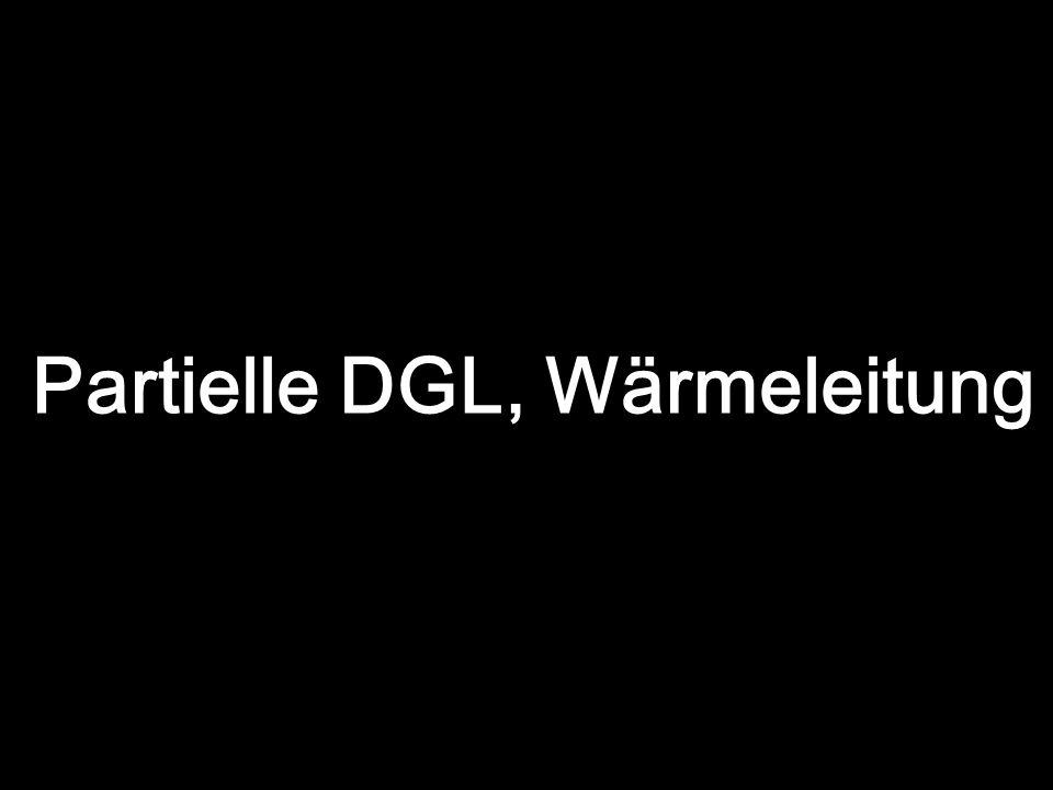 Partielle DGL, Wärmeleitung