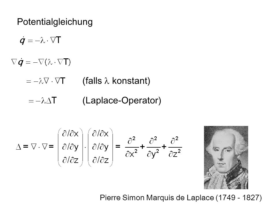 Potentialgleichung (falls l konstant) (Laplace-Operator)