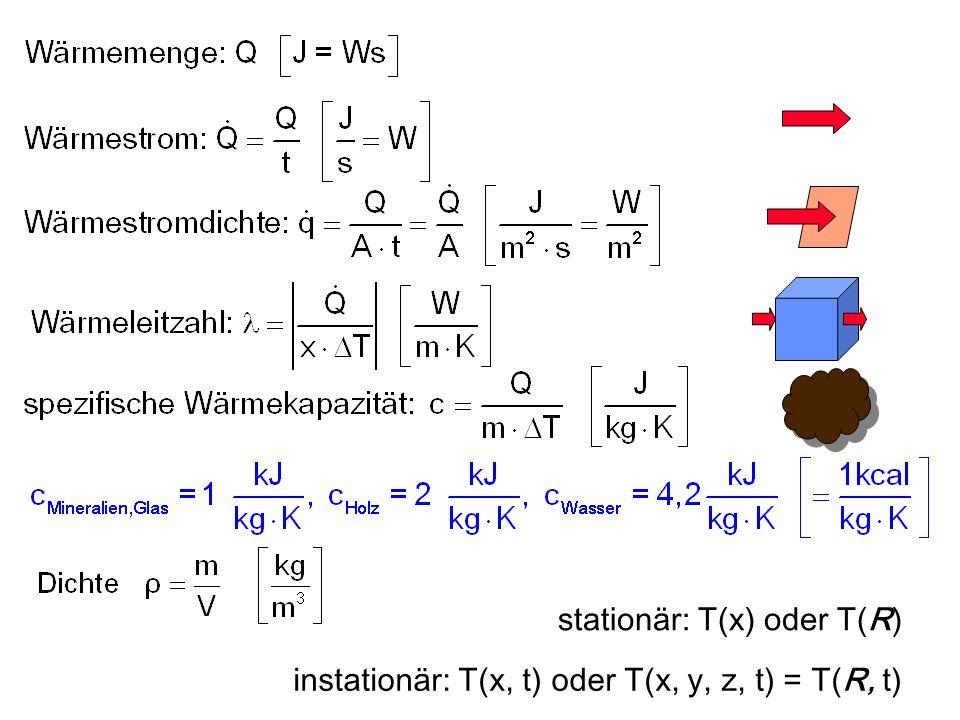stationär: T(x) oder T(R)