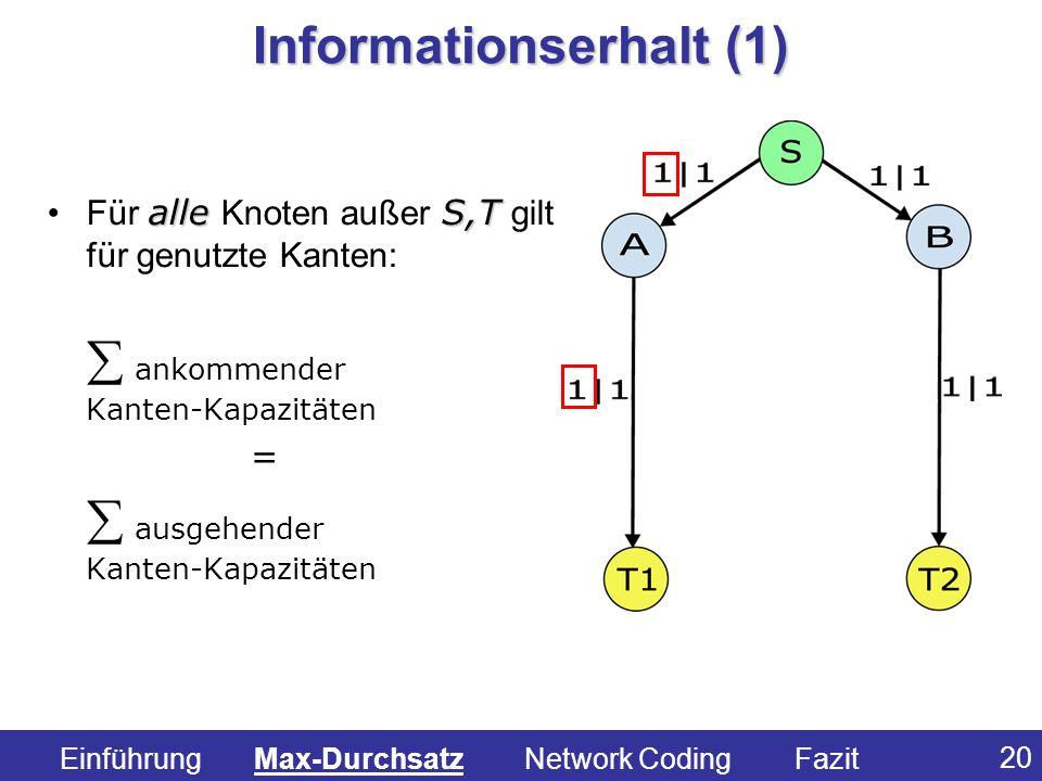 Informationserhalt (1)