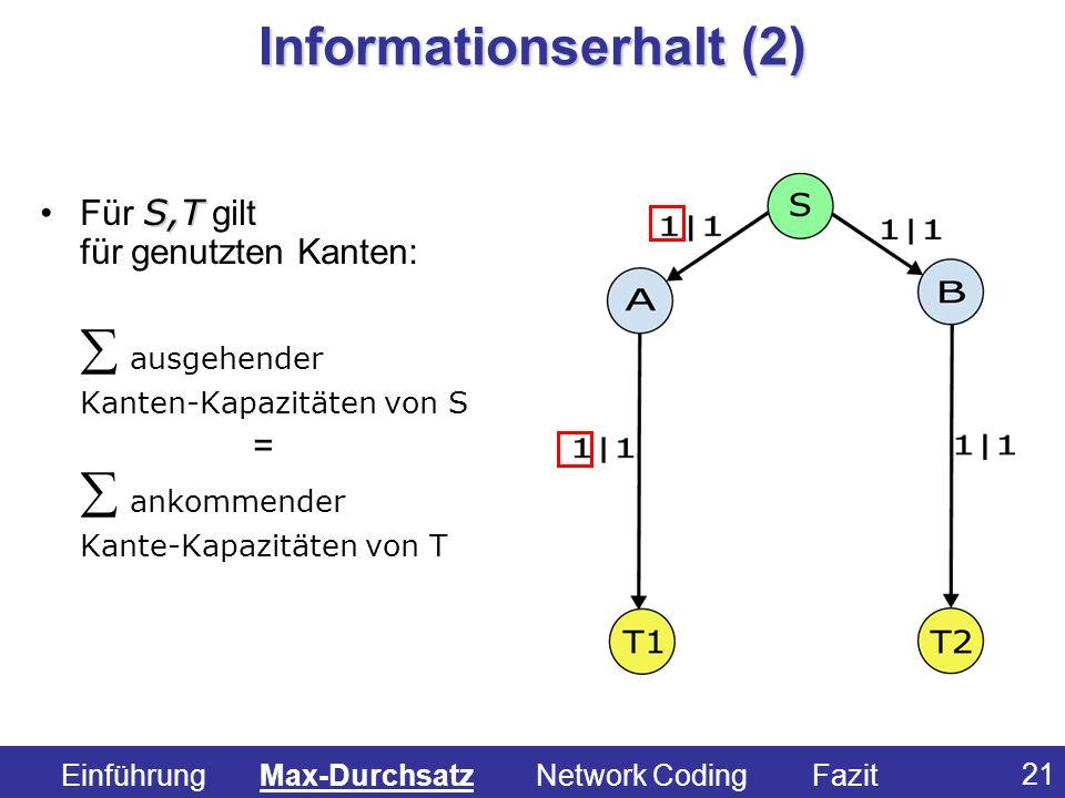 Informationserhalt (2)