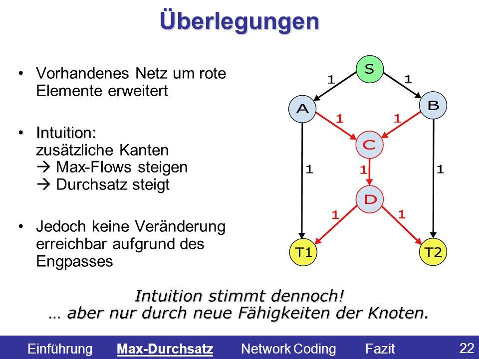 Überlegungen Vorhandenes Netz um rote Elemente erweitert