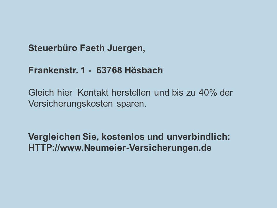 Steuerbüro Faeth Juergen,