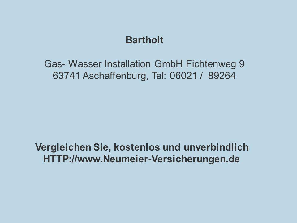 Gas- Wasser Installation GmbH Fichtenweg 9