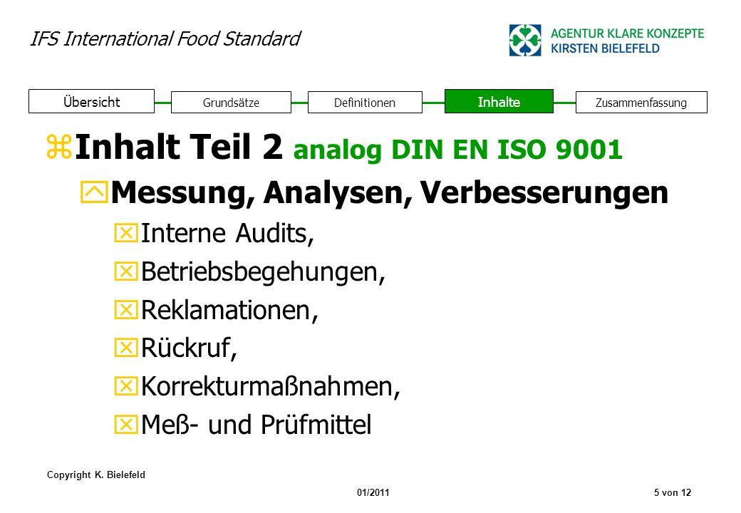 Inhalt Teil 2 analog DIN EN ISO 9001