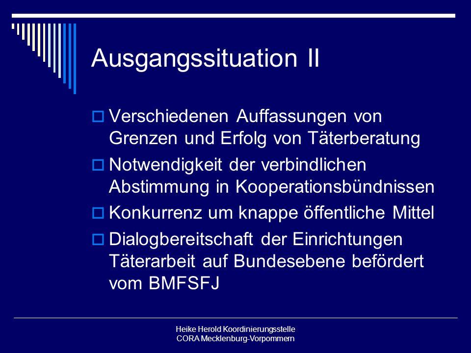 Heike Herold Koordinierungsstelle CORA Mecklenburg-Vorpommern