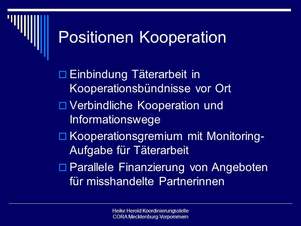 Positionen Kooperation