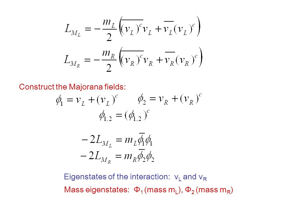 Construct the Majorana fields: