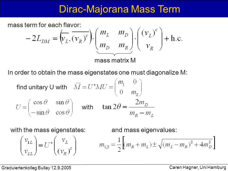 Dirac-Majorana Mass Term