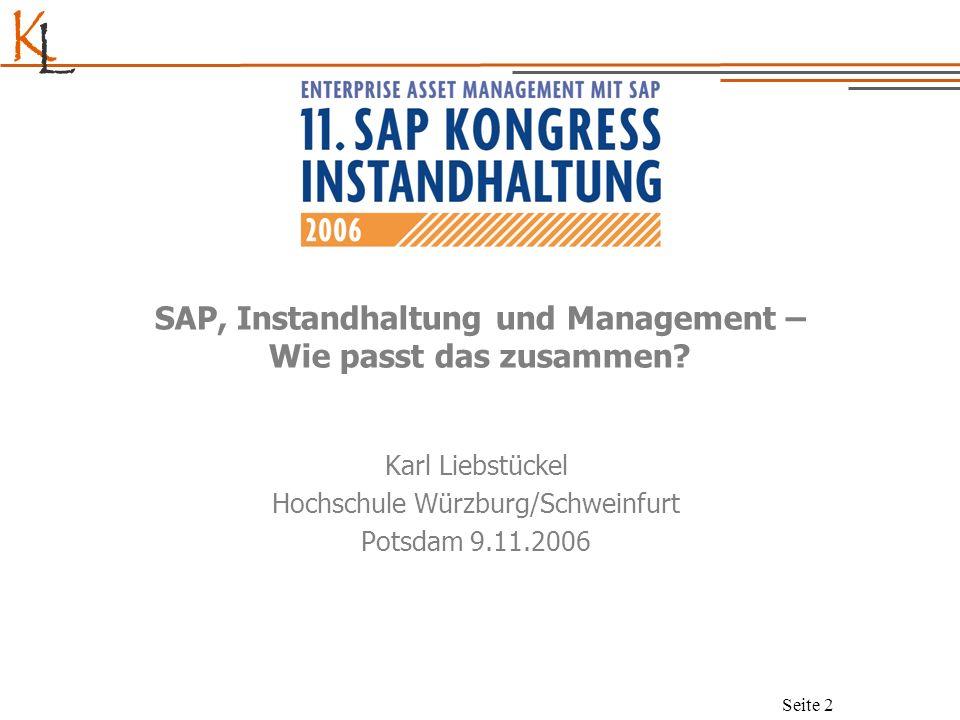 SAP, Instandhaltung und Management – Wie passt das zusammen