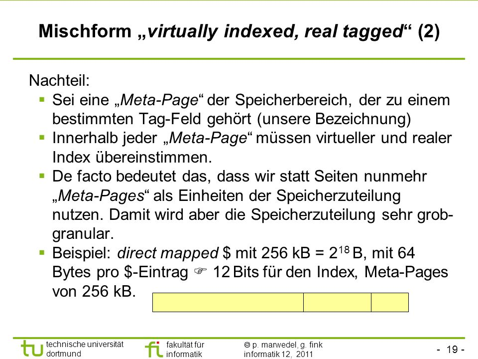 "Mischform ""virtually indexed, real tagged (2)"