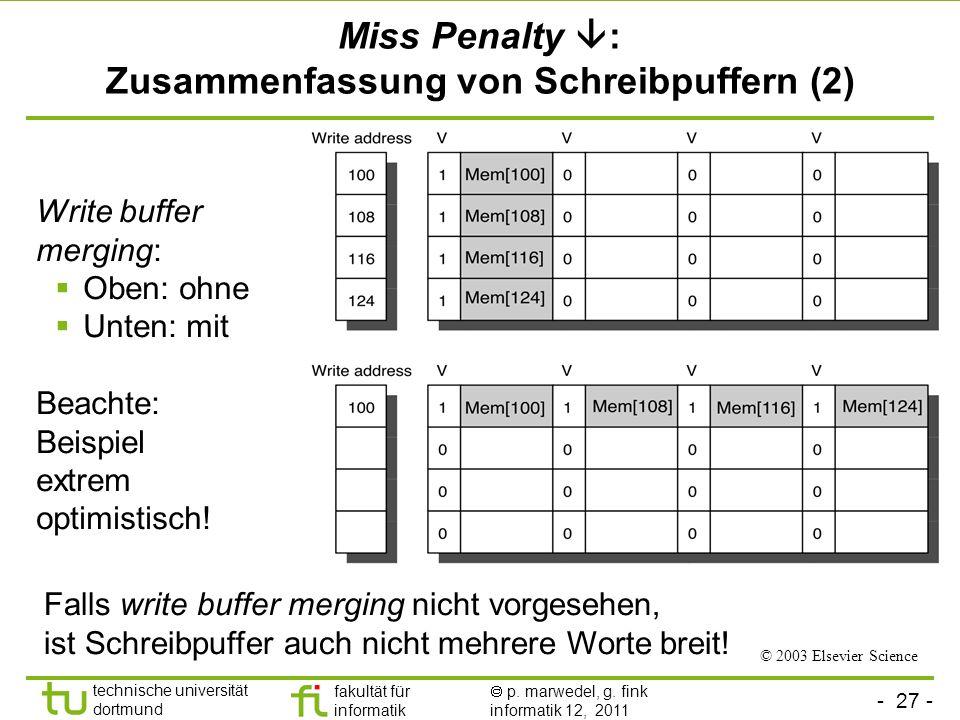 Miss Penalty : Zusammenfassung von Schreibpuffern (2)