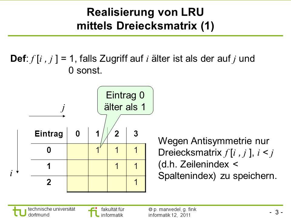 Realisierung von LRU mittels Dreiecksmatrix (1)