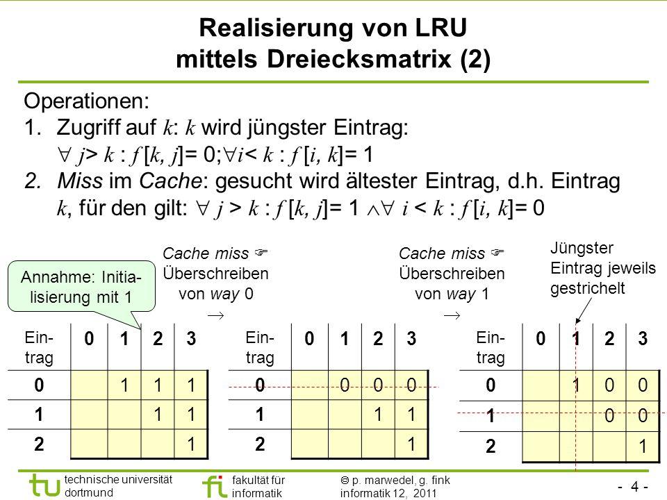 Realisierung von LRU mittels Dreiecksmatrix (2)