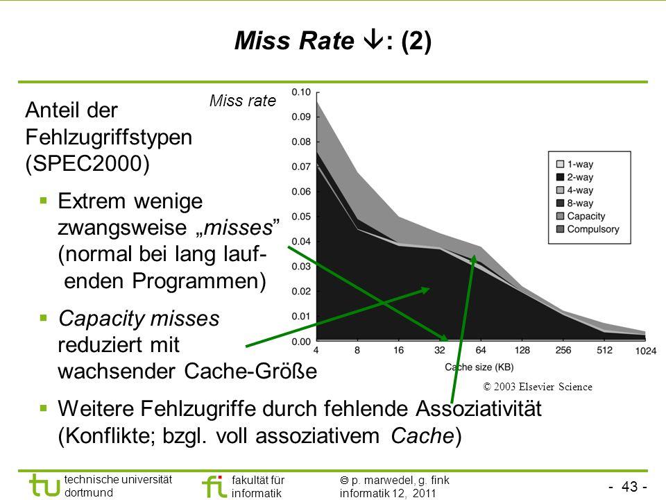 Miss Rate : (2) Anteil der Fehlzugriffstypen (SPEC2000)