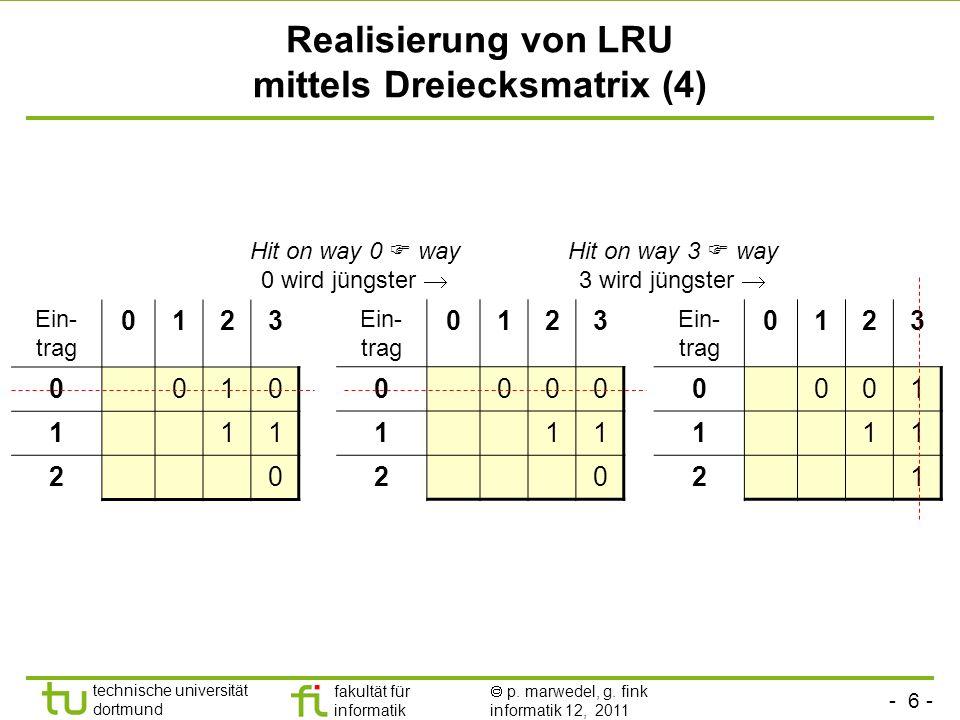 Realisierung von LRU mittels Dreiecksmatrix (4)