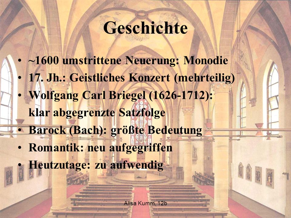 Geschichte ~1600 umstrittene Neuerung: Monodie