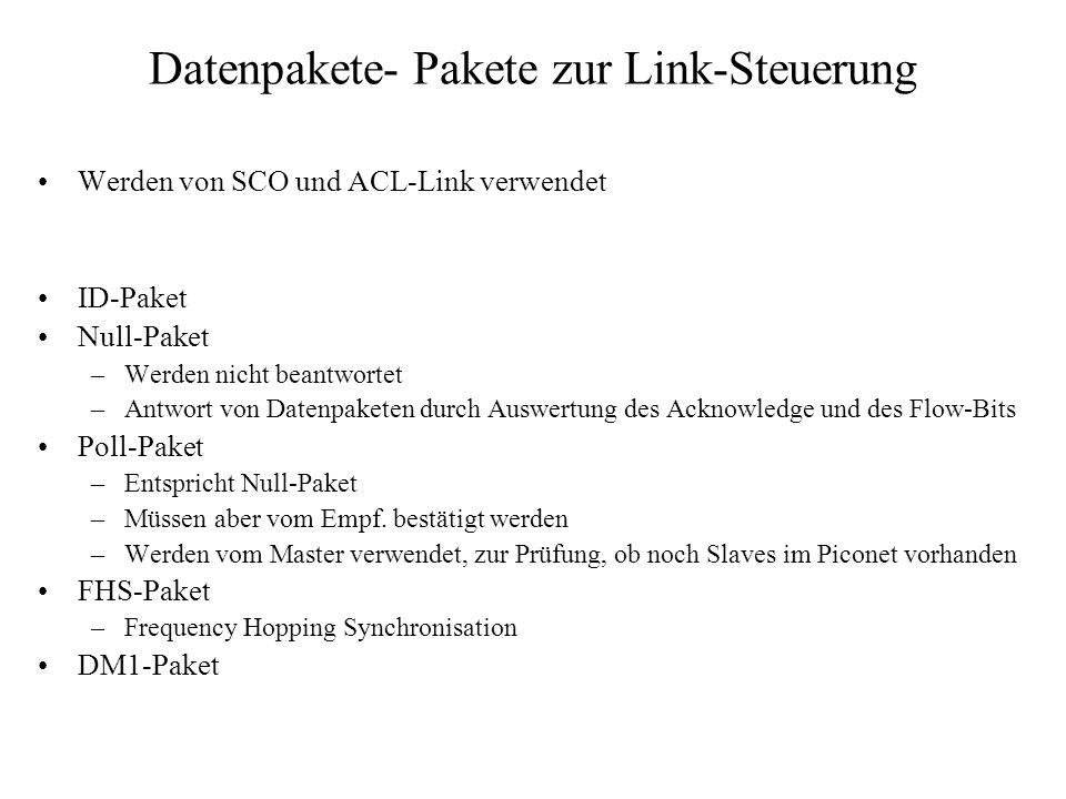 Datenpakete- Pakete zur Link-Steuerung