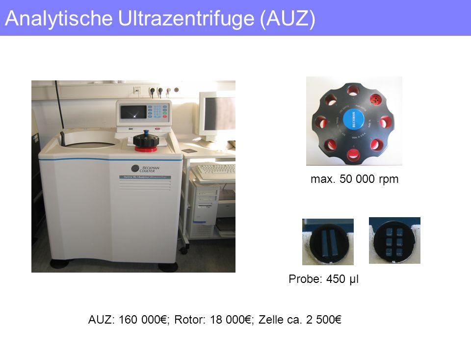 Analytische Ultrazentrifuge (AUZ)