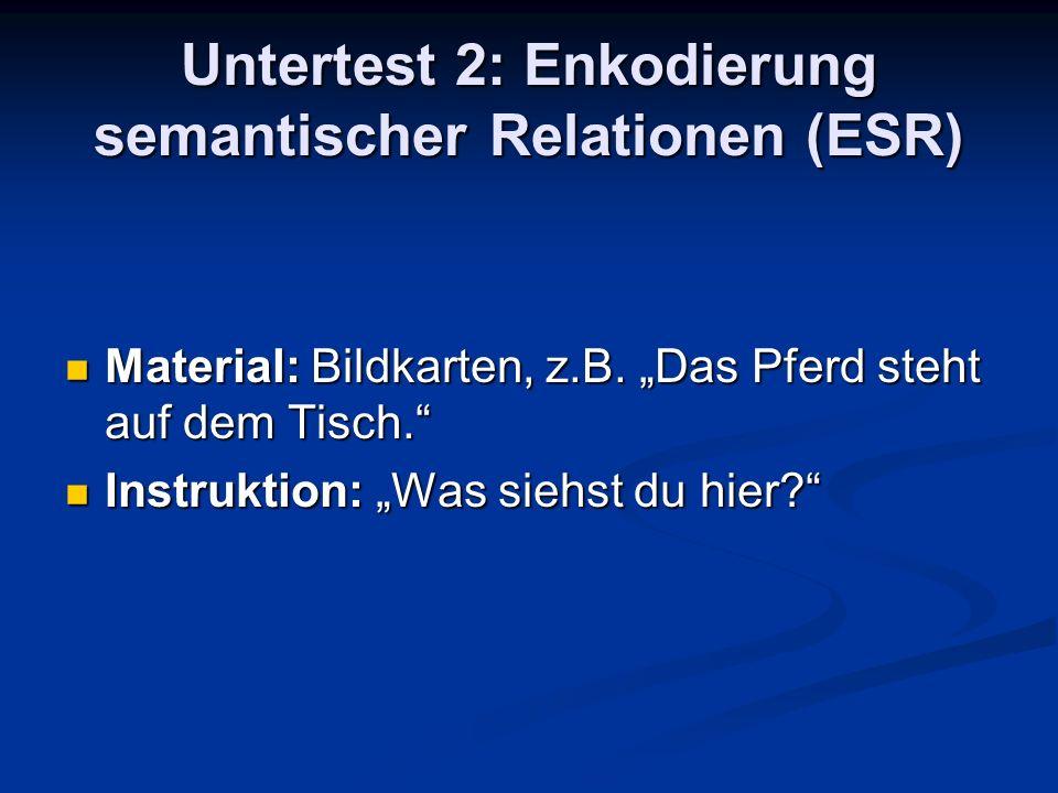 Untertest 2: Enkodierung semantischer Relationen (ESR)