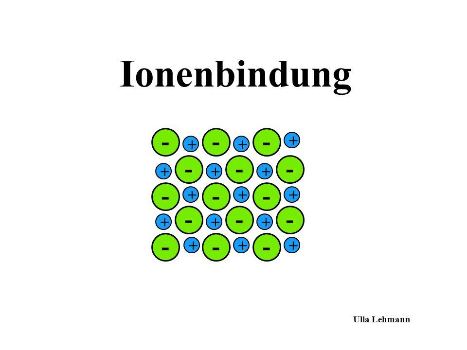 Ionenbindung - + Ulla Lehmann