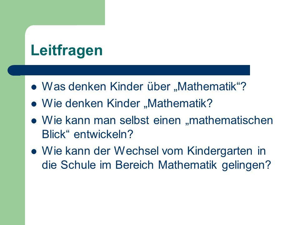 """Leitfragen Was denken Kinder über """"Mathematik"""