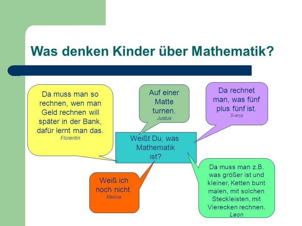 Was denken Kinder über Mathematik