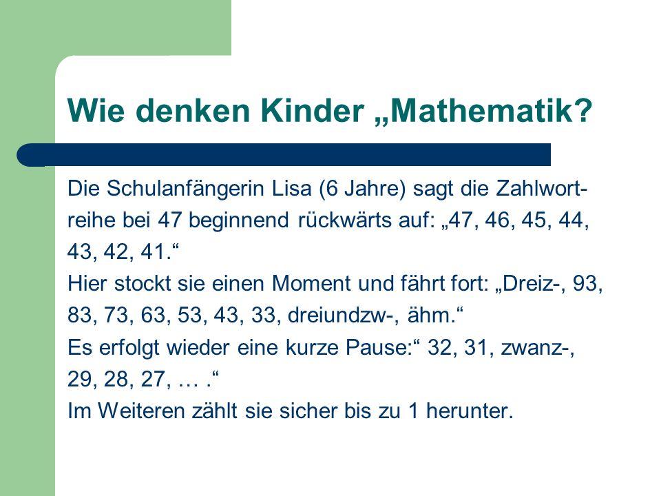 """Wie denken Kinder """"Mathematik"""