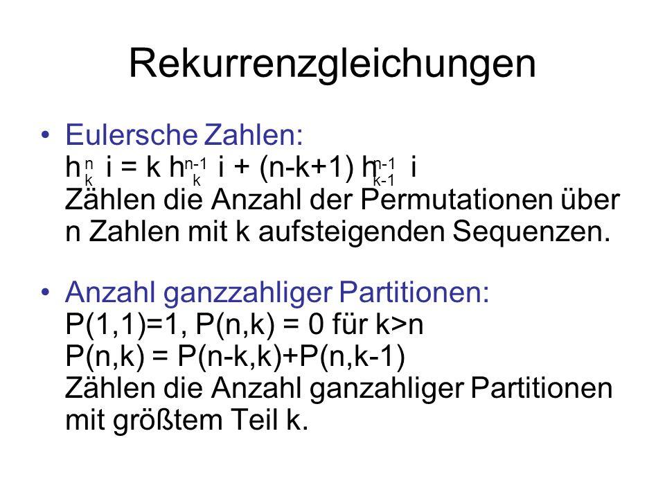 Rekurrenzgleichungen