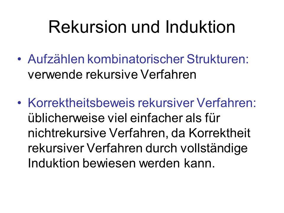 Rekursion und Induktion