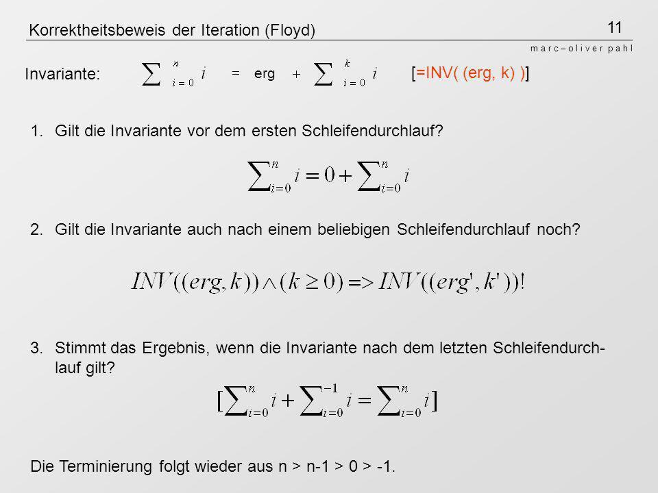Korrektheitsbeweis der Iteration (Floyd)