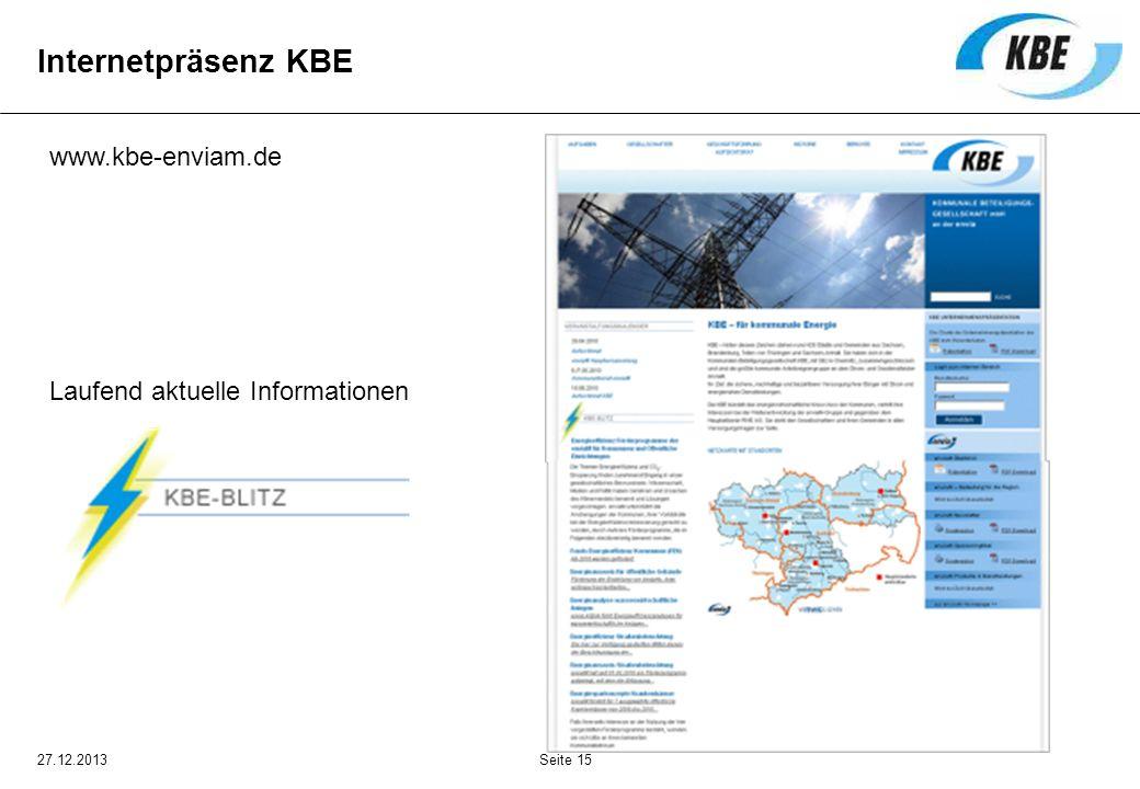 Internetpräsenz KBE www.kbe-enviam.de Laufend aktuelle Informationen