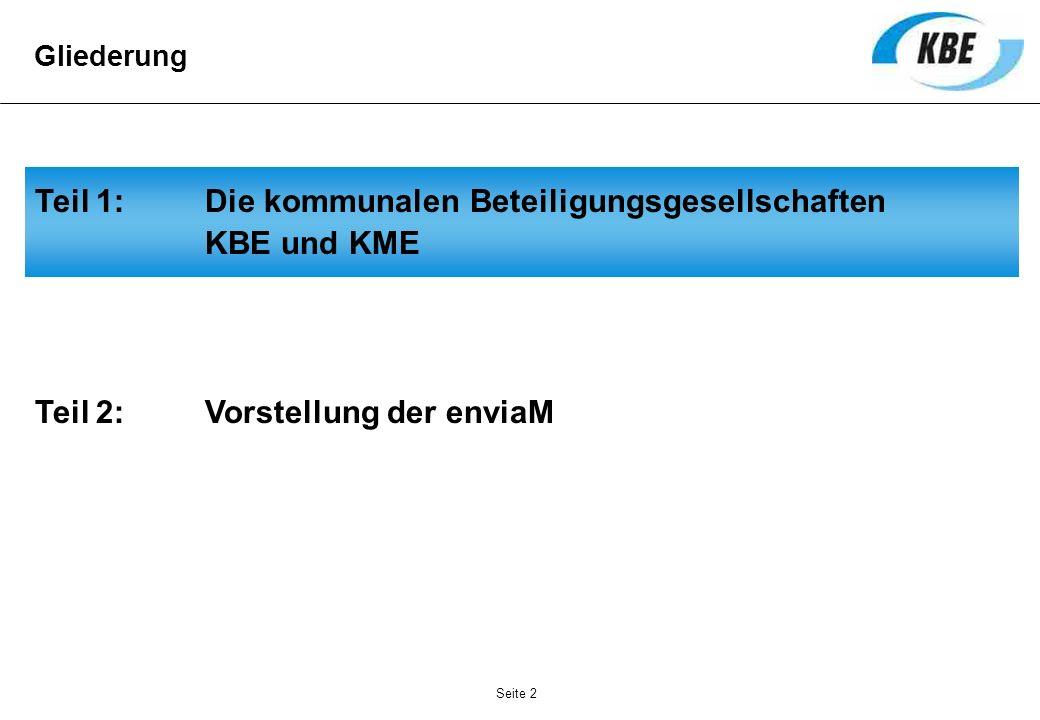 Teil 1: Die kommunalen Beteiligungsgesellschaften KBE und KME