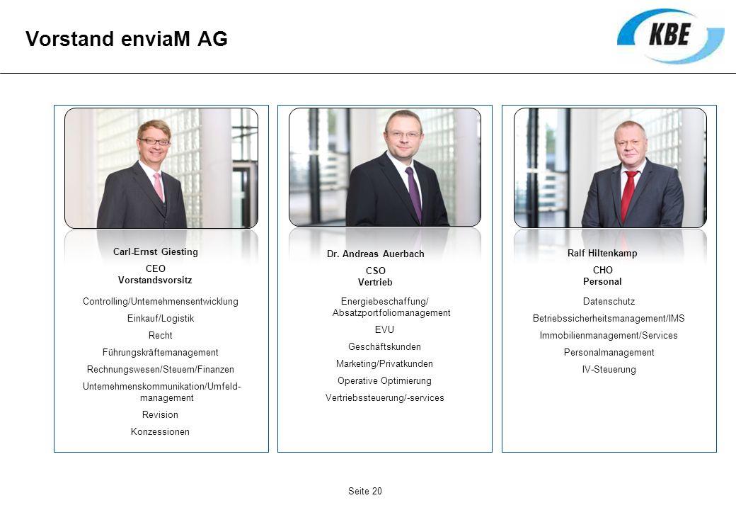 Vorstand enviaM AG Controlling/Unternehmensentwicklung