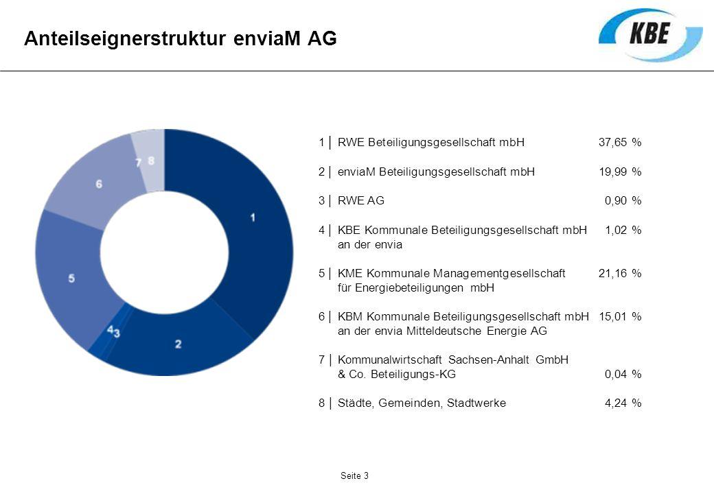 Anteilseignerstruktur enviaM AG