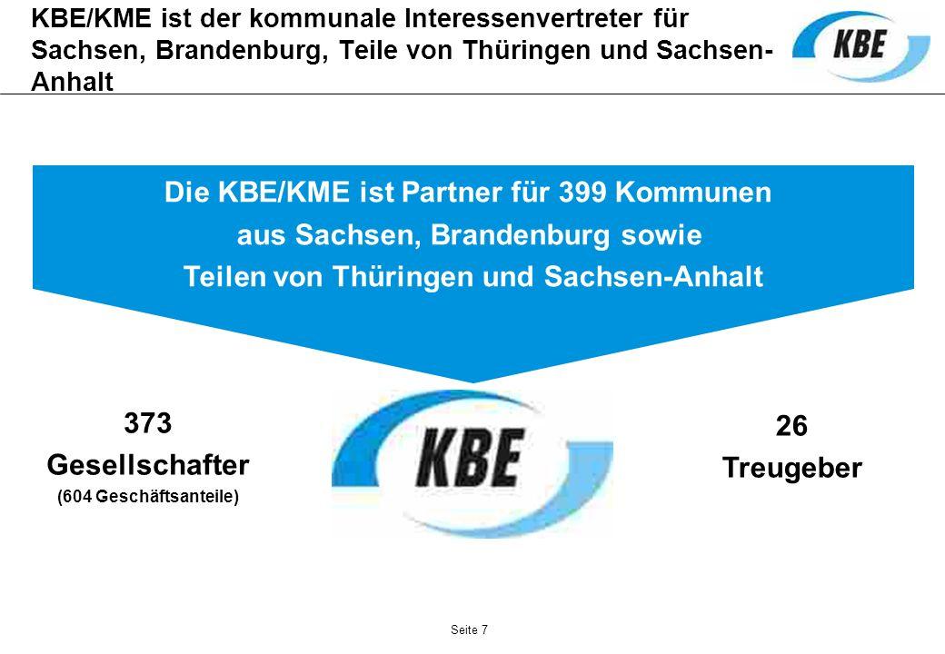 Die KBE/KME ist Partner für 399 Kommunen