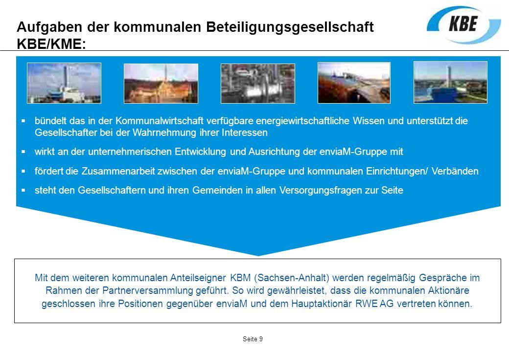 Aufgaben der kommunalen Beteiligungsgesellschaft KBE/KME: