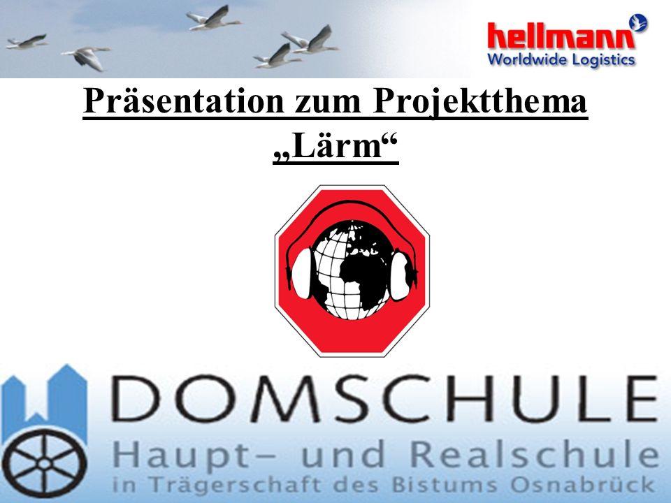 "Präsentation zum Projektthema ""Lärm"