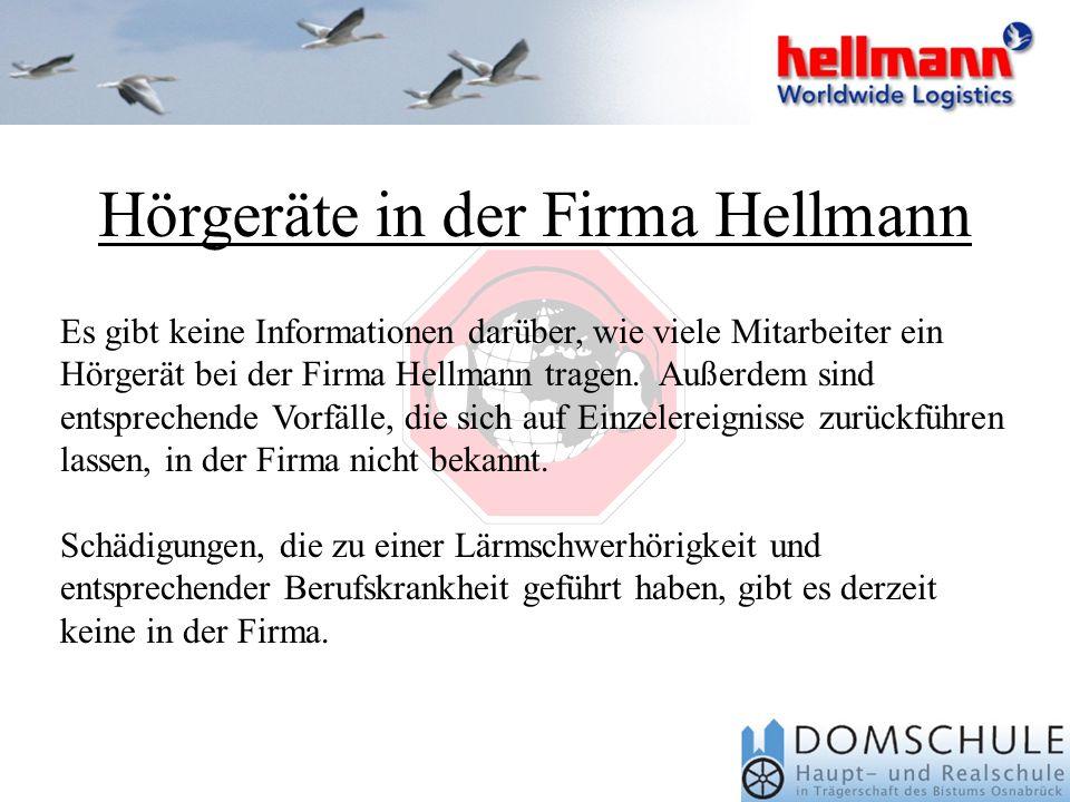 Hörgeräte in der Firma Hellmann