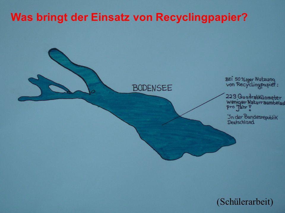 Was bringt der Einsatz von Recyclingpapier
