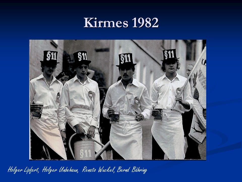 Kirmes 1982 Holger Lipfert, Holger Unbehaun, Renato Wuckel, Bernd Bähring